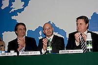 Roma 1 Marzo 2014<br /> Riunione  dei partiti dell'ultradestra europea  per un convegno dal titolo &ldquo;L&rsquo;Europa Risorge&rdquo;. Hanno partecipato  il deputato greco di Alba Dorata Antonios Gregos, l&rsquo;eurodeputato del British National Party Nicolas Griffin, il segretario Nazionale di Forza Nuova Roberto Fiore.<br /> Rome, March 1, 2014<br /> Meeting of the ultra-right European parties for a conference entitled &quot;Europe is resurrects .&quot; Was attended by the deputy greek Antonios Gregos Golden Dawn , the British National Party MEP Nicholas Griffin,the National Secretary of New Force (Forza Nuova), Roberto Fiore .