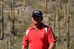 J.B. Holmes (USA) in action on the 12th green during Day 3 of the Accenture Match Play Championship from The Ritz-Carlton Golf Club, Dove Mountain, Friday 25th February 2011. (Photo Eoin Clarke/golffile.ie)