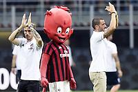 Milano 03-08-2017 Stadio San Siro Giuseppe Meazza - Europa League Milan - Craiova foto Daniele Buffa/Image Sport/Insidefoto<br /> nella foto: Lucas Biglia-Leonardo Bonucci
