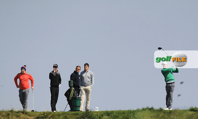 Stuart Grehan (Tullamore) on the 14th tee during Round 4 of the Flogas Irish Amateur Open Championship at Royal Dublin on Sunday 8th May 2016.<br /> Picture:  Thos Caffrey / www.golffile.ie
