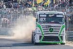 Finnish driver John Hemming belonging Finnish Team John Hemming during the fist race R1 of the XXX Spain GP Camion of the FIA European Truck Racing Championship 2016 in Madrid. October 01, 2016. (ALTERPHOTOS/Rodrigo Jimenez)