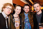 Daniel Houghton, Una Reynolds, Peter Barnett and Conor Hanlon enjoying a night in McPhails.<br /> Picture: Shane Maguire / www.newsfile.ie