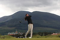 Carolina Lopez-Chacarra (ESP) on the 2nd tee during Round 1 of the Women's Amateur Championship at Royal County Down Golf Club in Newcastle Co. Down on Tuesday 11th June 2019.<br /> Picture:  Thos Caffrey / www.golffile.ie<br /> <br /> All photos usage must carry mandatory copyright credit (© Golffile | Thos Caffrey)
