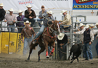 26 Aug 2010:  Cade Swor scored a time of 9.9 in the slack Tie Down Roping competition at the Kitsap County Stampede Wrangle Million Dollar PRCA Silver Rodeo Tour Bremerton, Washington.