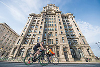 Picture by Allan McKenzie/SWpix.com - 24/09/2017 - Cycling - HSBC UK City Ride Liverpool - Albert Dock, Liverpool, England - Liver building, riders.
