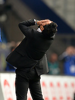 FUSSBALL   1. BUNDESLIGA   SAISON 2013/2014   6. SPIELTAG Hamburger SV - Eintracht Braunschweig                  21.09.2013 Trainer Rodolfo Cardoso (Hamburg) ist enttaeuscht
