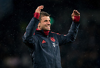Thomas Müller of Bayern Munich pre match during the UEFA Champions League group match between Tottenham Hotspur and Bayern Munich at Wembley Stadium, London, England on 1 October 2019. Photo by Andy Rowland.