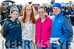 Noreen Kissane (Listowel), Aerona O'Gorman (Asdee) with Noreen Guiney and Paudie Buckley, enjoying Listowel races on Sunday last.