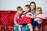 Siobhan Stack who set up www.hospitalbag.ie. with her children Peadar, Moires and Saoirse.