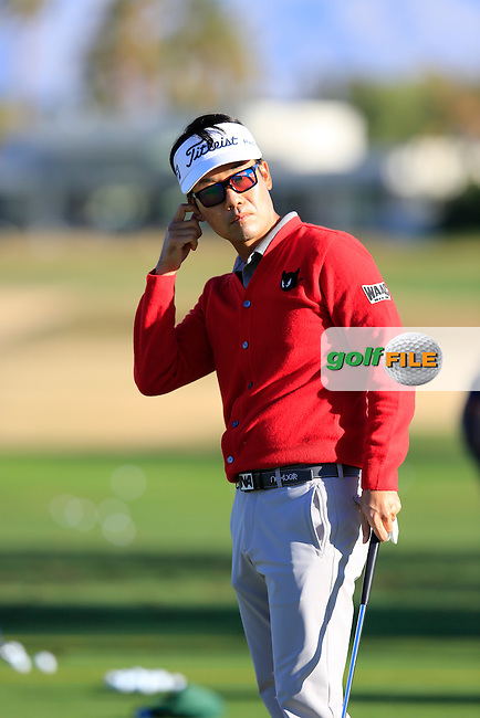 Kevin Na (USA) on the range during Saturday's Round 3 of the 2017 CareerBuilder Challenge held at PGA West, La Quinta, Palm Springs, California, USA.<br /> 21st January 2017.<br /> Picture: Eoin Clarke | Golffile<br /> <br /> <br /> All photos usage must carry mandatory copyright credit (&copy; Golffile | Eoin Clarke)