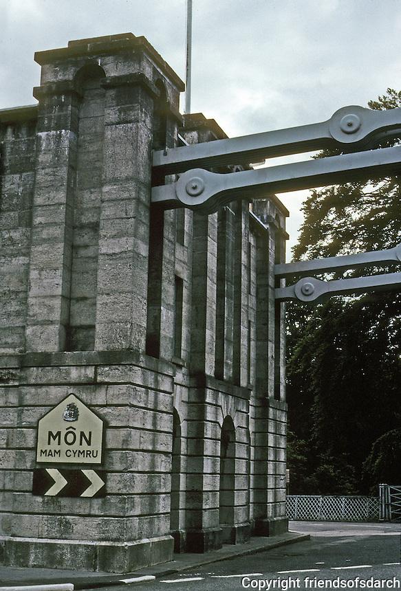 Technology: Thomas Telford Menai Road Bridge, Cable anchor. Photo '90.