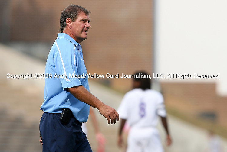 06 September 2009: UNC head coach Elmar Bolowich. The University of North Carolina Tar Heels defeated the Evansville University Purple Aces 4-0 at Fetzer Field in Chapel Hill, North Carolina in an NCAA Division I Men's college soccer game.