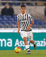 Calcio, Serie A: Lazio vs Juventus. Roma, stadio Olimpico, 4 dicembre 2015.<br /> Juventus&rsquo; Paulo Dybala in action during the Italian Serie A football match between Lazio and Juventus at Rome's Olympic stadium, 4 December 2015.<br /> UPDATE IMAGES PRESS/Riccardo De Luca