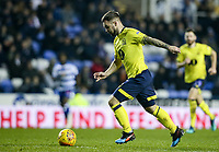 Blackburn Rovers' Adam Armstrong shoots at goal  <br /> <br /> Photographer Andrew Kearns/CameraSport<br /> <br /> The EFL Sky Bet Championship - Reading v Blackburn Rovers - Wednesday 13th February 2019 - Madejski Stadium - Reading<br /> <br /> World Copyright © 2019 CameraSport. All rights reserved. 43 Linden Ave. Countesthorpe. Leicester. England. LE8 5PG - Tel: +44 (0) 116 277 4147 - admin@camerasport.com - www.camerasport.com
