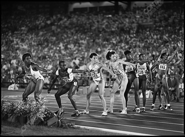 4x400m relay, women, Atlanta, Georgia, USA, August, 1996