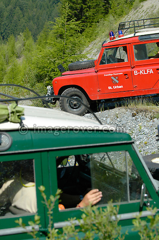 Austria, Boesenstein Offroad Classic, Hohentauern, Steiermark, 25-26.06.2005. Land Rovers. --- No releases available. Automotive trademarks are the property of the trademark holder, authorization may be needed for some uses.