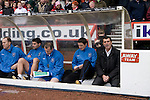 Ipswich Town manager Roy Keanesitting in the away dugout at the City Ground, Nottingham before Nottingham Forest take on visitors Ipswich Town in an Npower Championship match. Forest won the match by two goals to nil in front of 22,935 spectators.