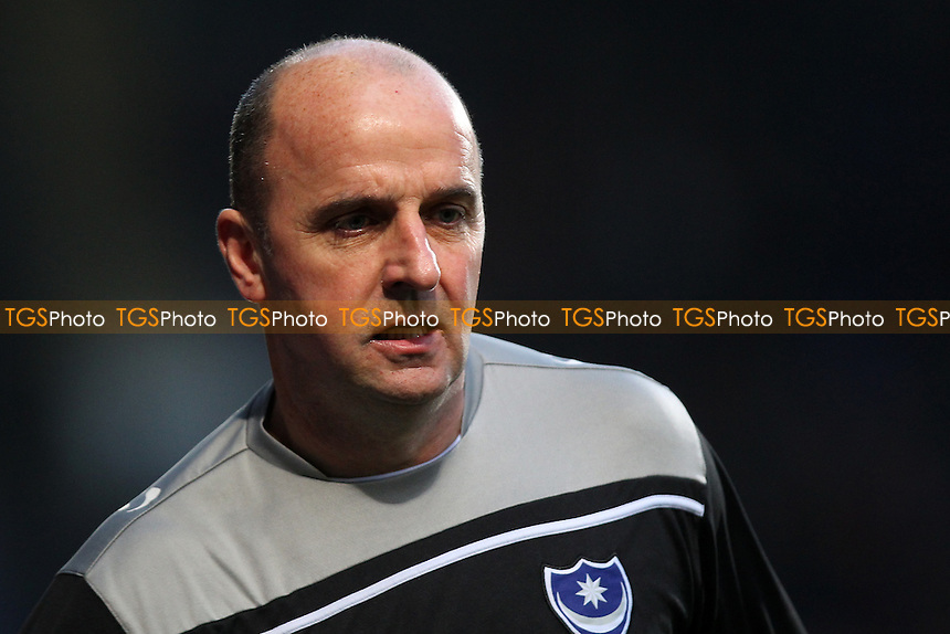 Portsmouth manager Paul Cook during Ipswich Town vs Portsmouth at Portman Road