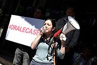 Roma, 5 Maggio 2017<br /> Movimenti per il diritto all'abitare assediano l'assessorato alle politiche sociali, contro I nuovi decreti governativi sulla sicurezza urbana e sui migranti .