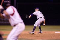 July 7, 2009: Tri-City Dust Devils' Charles Ruiz pitches against the Salem-Keizer Volcanoes during a Northwest League game at Volcanoes Stadium in Salem, Oregon.