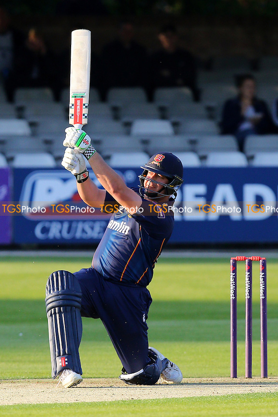 Jesse Ryder hits six runs for the Essex Eagles - Essex Eagles vs Shepherd Neame Essex League XI - T20 Cricket Friendly Match at the Essex County Ground, Chelmsford, Essex - 13/05/15 - MANDATORY CREDIT: Gavin Ellis/TGSPHOTO - Self billing applies where appropriate - contact@tgsphoto.co.uk - NO UNPAID USE