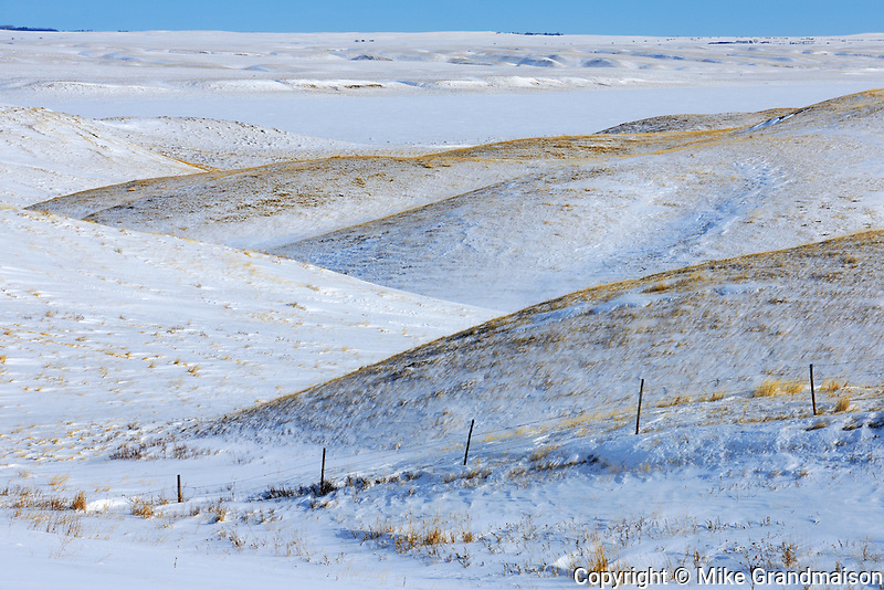 Winter landscape <br /> near Willow Bunch<br /> Saskatchewan<br /> Canada