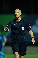 Monday  19 December 2014<br /> Pictured: Referee Wayne Barratt <br /> Re: Swansea City U23 v Middlesbrough u23 at the Landore Training Facility, Swansea, Wales, UK