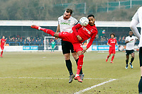 O's Lemar Reynolds & Dover capt Mitch Brundle during Dover Athletic vs Leyton Orient, Vanarama National League Football at the Crabble Athletic Ground on 3rd March 2018