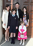 Chloe McKeown with Rachel, Carla, Melvin and Lauren at the Ballymakenny NS Confirmation...Photo NEWSFILE/Jenny Matthews.(Photo credit should read Jenny Matthews/NEWSFILE)....This Picture has been sent you under the condtions enclosed by:.Newsfile Ltd..The Studio,.Millmount Abbey,.Drogheda,.Co Meath..Ireland..Tel: +353(0)41-9871240.Fax: +353(0)41-9871260.GSM: +353(0)86-2500958.email: pictures@newsfile.ie.www.newsfile.ie.FTP: 193.120.102.198.