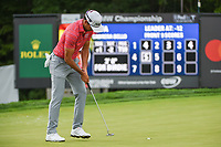 Rafael Cabrera Bello (ESP) sinks his birdie putt on 5 during Rd3 of the 2019 BMW Championship, Medinah Golf Club, Chicago, Illinois, USA. 8/17/2019.<br /> Picture Ken Murray / Golffile.ie<br /> <br /> All photo usage must carry mandatory copyright credit (© Golffile   Ken Murray)