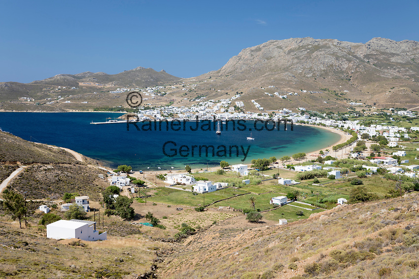 Greece, South Aegean, Cyclades, Serifos island: Livadi Bay   Griechenland, Suedliche Aegaeis, Kykladen, Insel Serifos: Livadi Bay