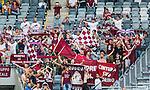 Stockholm 2014-07-31 Fotboll Europa League IF Brommapojkarna - Torino FC :  <br /> Torinos supportrar med flaggor och och halsdukar<br /> (Foto: Kenta J&ouml;nsson) Nyckelord:  BP Brommapojkarna IFB Tele2 Arena Europa League Torino FC TFC Italien Itay supporter fans publik supporters