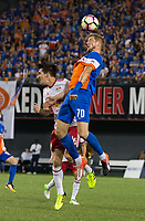 Cincinnati, OH - Tuesday August 15, 2017: Kevin Schindler during a 2017 U.S. Open Cup game between FC Cincinnati vs New York Red Bulls at Nippert Stadium.