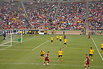 Football: Test Match, Liverpool FC - Borussia Dortmund. Borussia Dortmund and Liverpool in the final few minutes of the first half of their exhibition match on July 19, 2019 at Notre Dame Stadium. <br /> Tim Vizer/DPA