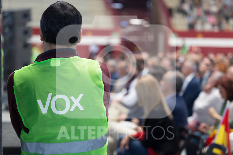 Vox`s supporter during the politics party meeting. October 13,2019. (ALTERPHOTOS/IVAN TOME)