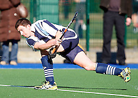 Ed Bevan in action for Hampstead during the EHL Mens Cup Quarter-Final game between Hampstead and Westminster and Old Loughtonians at the Paddington Recreation Ground, Maida Vale on Sun Mar 7, 2010
