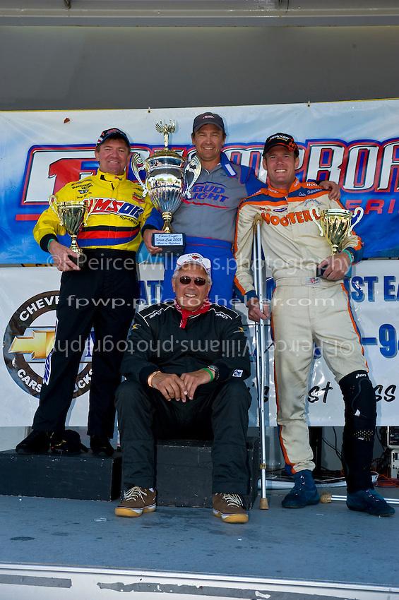 8-10 August 2008  Algonac, MI USA.F1 Podium (L to R): Terry Rinker (2nd), Tim Seebold (1st) and Chris Fairchild (3rd) with Tom D'Eath..©F.Peirce Williams 2008