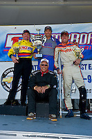 8-10 August 2008  Algonac, MI USA.F1 Podium (L to R): Terry Rinker (2nd), Tim Seebold (1st) and Chris Fairchild (3rd) with Tom D'Eath..©F.Peirce Williams 2008
