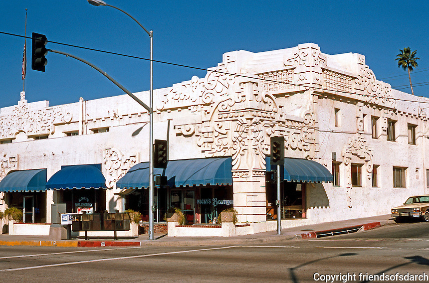 Los Angeles: Aztec Hotel, Magnolia Ave., Foothill, Monrovia. Robert Stacy-Judd.  Photo '87.