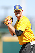 April 17, 2009:  Pitcher Chris Leroux of the Jacksonville Suns, Southern League Class-AA affiliate of the Florida Marlins, during a game at the Baseball Grounds of Jacksonville in Jacksonville, FL.  Photo by:  Mike Janes/Four Seam Images