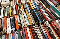 Pictured: Used books in the Oxfam store.<br /> Re: Hay Festival at Hay on Wye, Powys, Wales, UK. Saturday 02 June 2018
