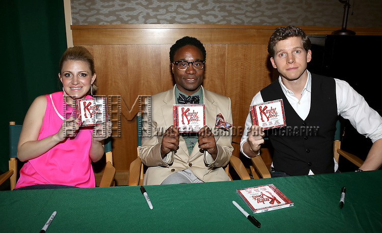 Annaleigh Ashford, Billy Porter, Stark Sands attending the Newly Released Broadway Cast Recording of 'Kinky Boots' Performance and CD signing at Barnes & Noble 86th Street in New York City on May 31, 2013.