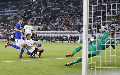 31.08.2016 Moenchengladbach, Germany. International football freindly. Germany versus Finland. Max MEYER, DFB 18 scores for 1-0