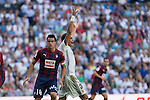 Eibar's Dani Garcia and Real Madrid's Kleper Lima Ferreira Pepe durign the match of La Liga between Real Madrid and SD Eibar at Santiago Bernabeu Stadium in Madrid. October 02, 2016. (ALTERPHOTOS/Rodrigo Jimenez)