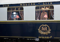 Europe/République Tchèque/Prague:l'Orient-Express Train de Luxe qui assure la liaison Calais,Paris , Prague,Venise [Non destiné à un usage publicitaire - Not intended for an advertising use]