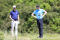 Jack Pierse (Portmarnock) and Mark Power (Kilkenny)  during the 1st round of the East of Ireland championship, Co Louth Golf Club, Baltray, Co Louth, Ireland. 02/06/2017<br /> Picture: Golffile | Fran Caffrey<br /> <br /> <br /> All photo usage must carry mandatory copyright credit (&copy; Golffile | Fran Caffrey)