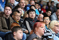 Wednesday, 23 April 2014<br /> Pictured: Swansea supporters.<br /> Re: Swansea City FC are holding an open training session for their supporters at the Liberty Stadium, south Wales,