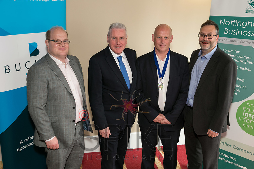 From left are Ewan Carr of sponsors Buckles, Speaker Vernon Coaker MP,  NCBC President Ian Roberts and Rob Wallwork of Buckles