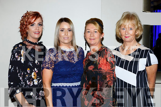 Rachel O'Donovan, Geraldine enright, Vera O'Leary and Betty Garnett from the Kerry Rape and Sexual Abuse centre at the Ring of Kerry cycle cheque presentation in the INEC on Friday