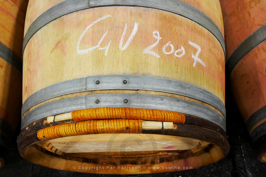 barrel hoops clos des quatre vents margaux medoc bordeaux france